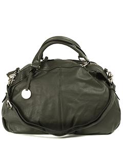 Серая элегантная сумка Maria Carla 10796 из кожи.