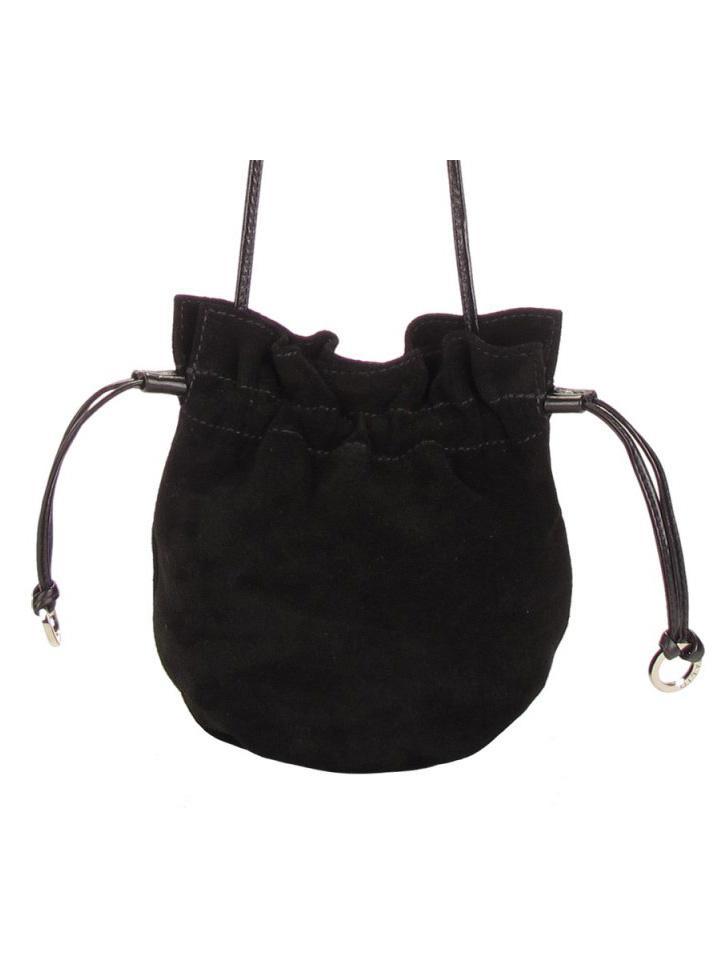 Черная замшевая сумка-мешок Palio со стразами - 2 300.00 руб. - доставка: г. Казань.
