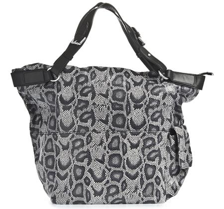 Женские сумки.  Чёрно-белая кожаная сумка 007 1102.  Главная.  Каталог.