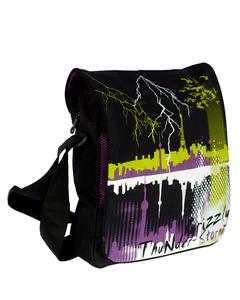 Фиолетовая сумка молодежная Grizzly ММ-1451.