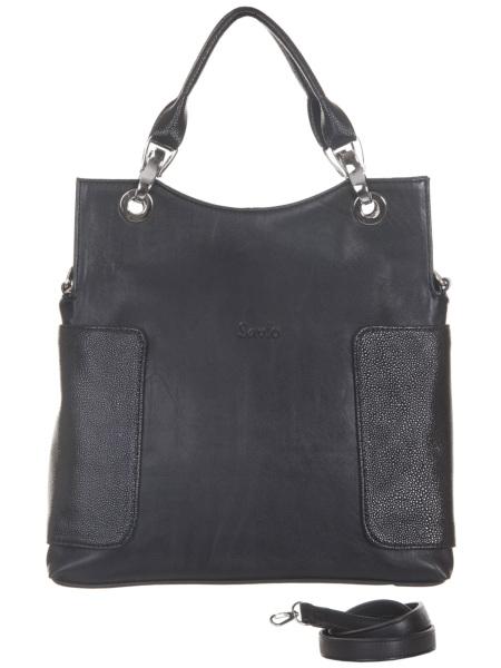 Женские сумки.  Черная женская сумка Savio 806.  Главная.  Каталог.