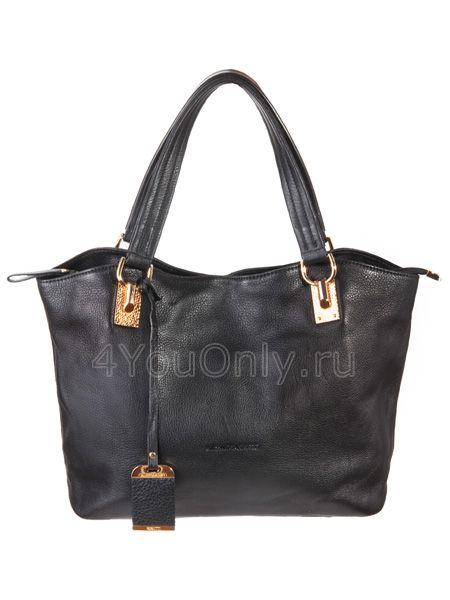 Женские сумки.  Чёрная кожаная сумка 007 910.  Главная.  Каталог.
