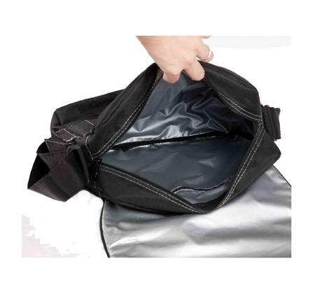Молодёжные сумки.  Серебристая сумка молодежная Grizzly ММ-1451.