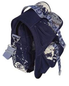 Синяя молодёжная сумка СМ-1021.
