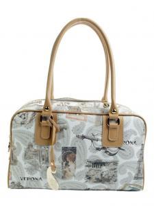 Оригинальная сумка Barocco из экокожи с принтом Verona.  Дизайнерские.
