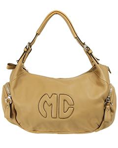 Модная сумка из кожи Maria Carla 11109 бежевого цвета.