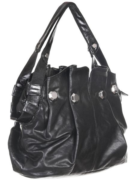 Женские сумки.  Черная женская сумка Savio 5080.  Главная.  Каталог.