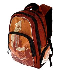Коричневый с бежевым рюкзак Grizzly РМ-1129.  Городские.