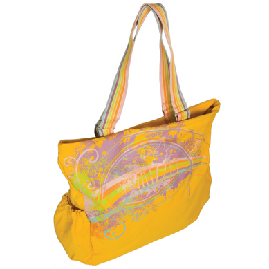Жёлтая летняя сумка Л-095.  Через плечо.