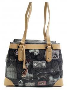 Оригинальная сумка Barocco из экокожи с длинными ручками.