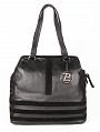 Черная кожаная сумка Palio с отделкой из замши - купить.